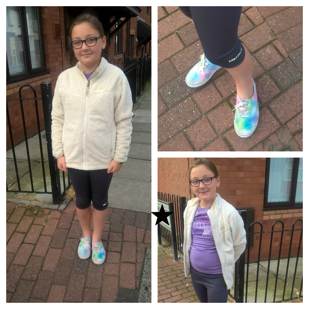 our marmot win girl in collages wearing different outfits