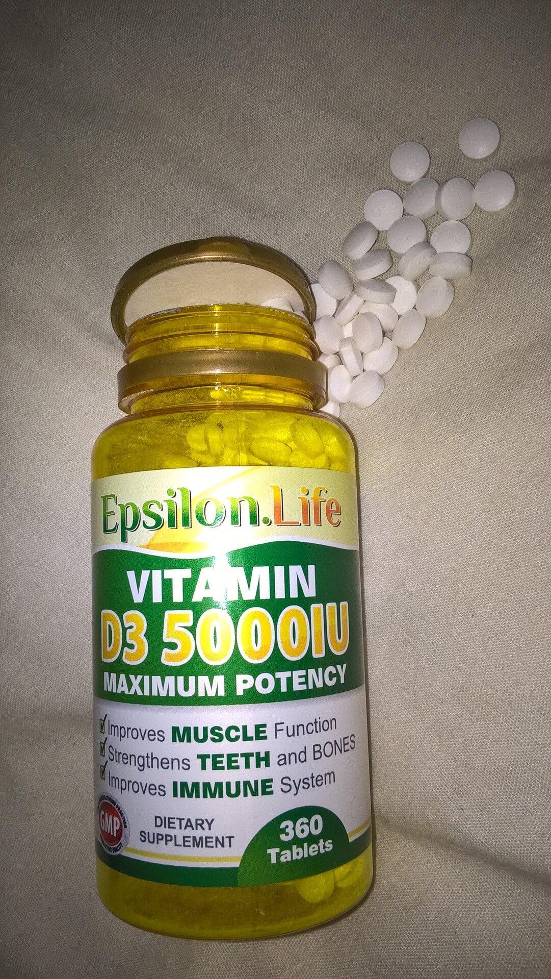 Epsilon Life Vitamin D3 Supplements