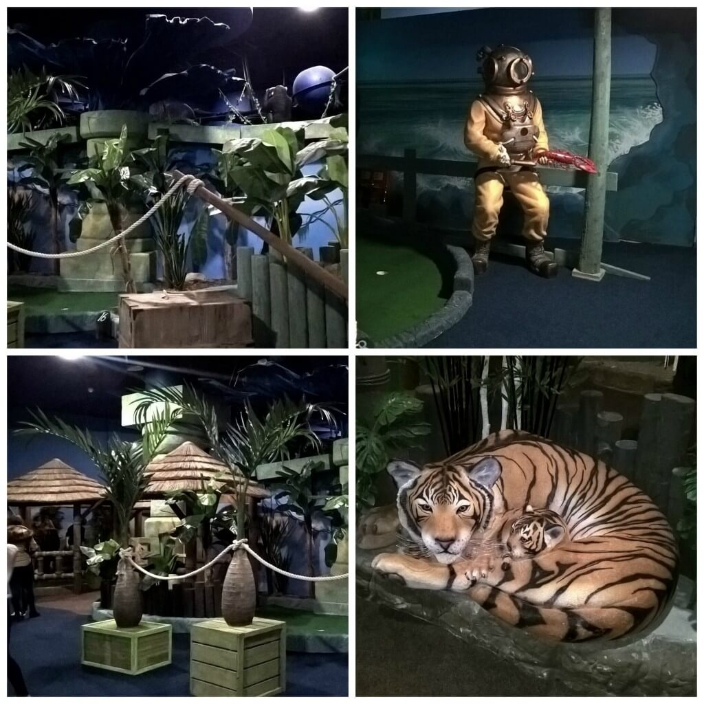 feature and displays at paradise island adventure golf