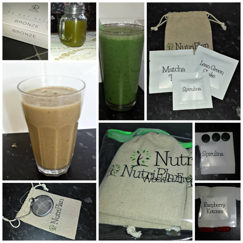 a collage of products from my 4 week detox with nutriplan
