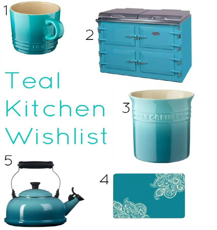 A teal kitchen wishlist cooker kettle accessories ideas