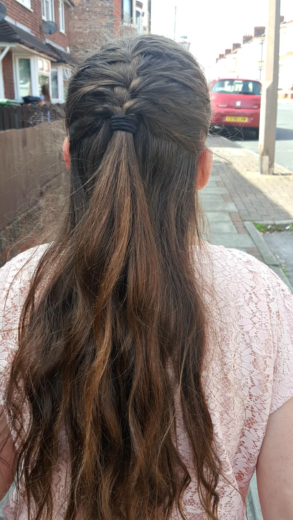 another school disco outfit picture of braided hairstyle
