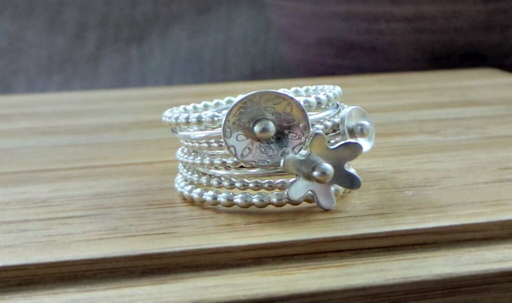 subscription box wishlist sterling silver stacking rings