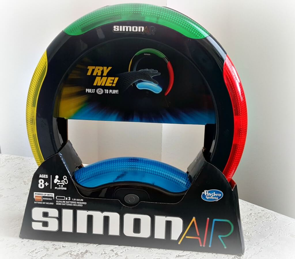 simon air review picture of toy in its box