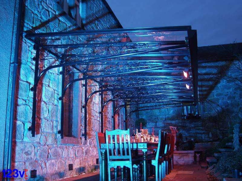 your dream house black_veranda_with_blue_led_wall_splash_lighting