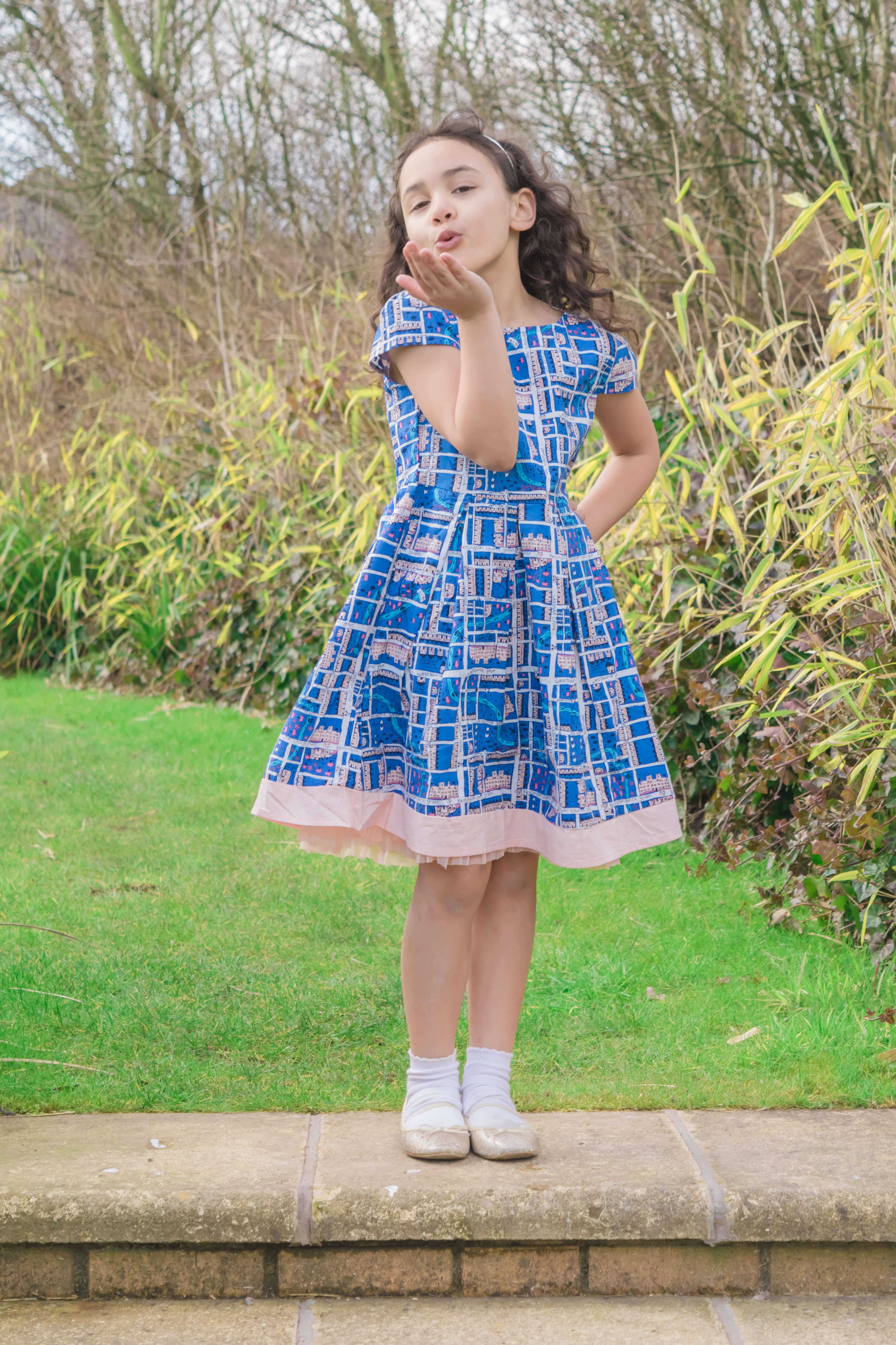 sylvia's style blue dress