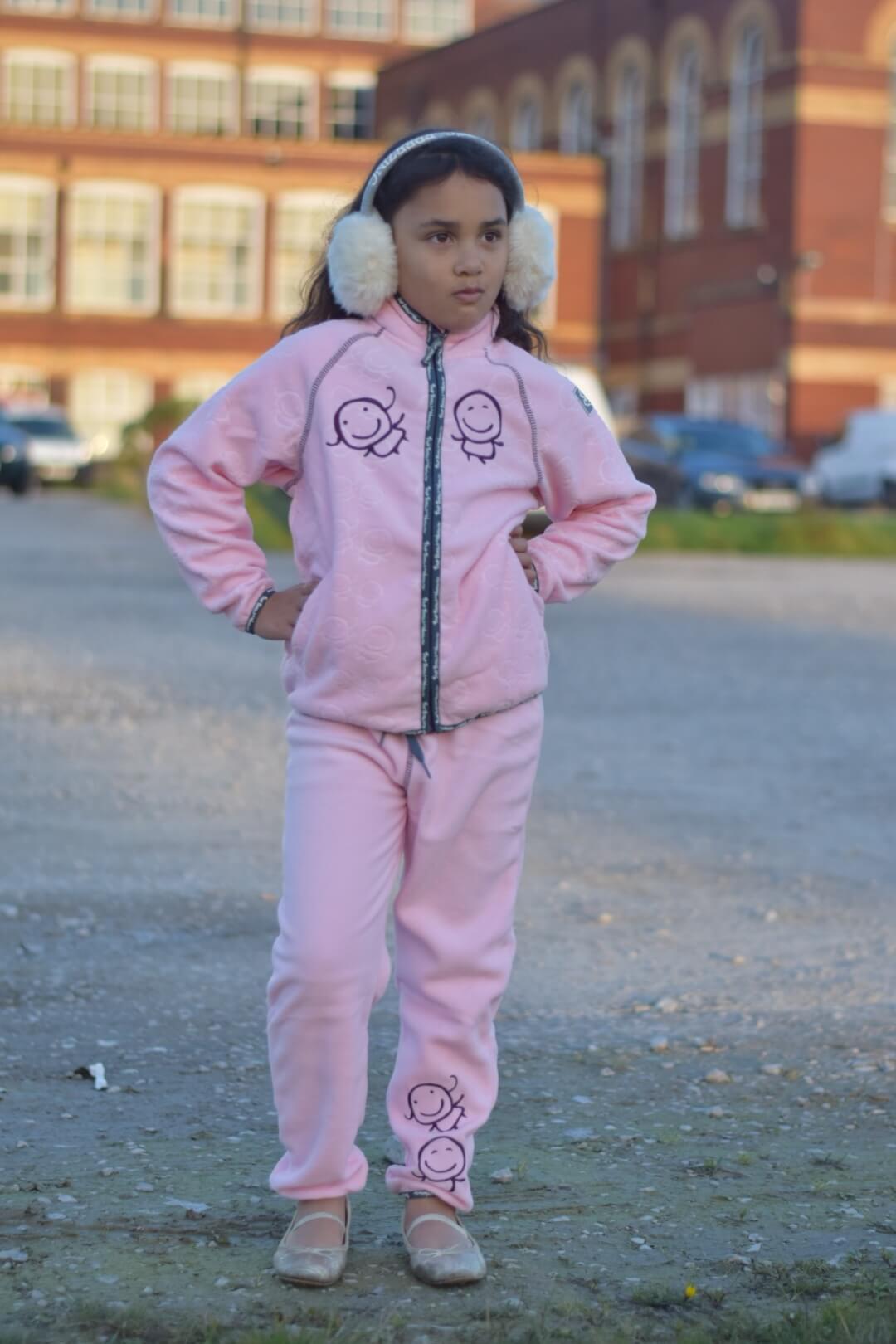 sylvia's style pink fleece
