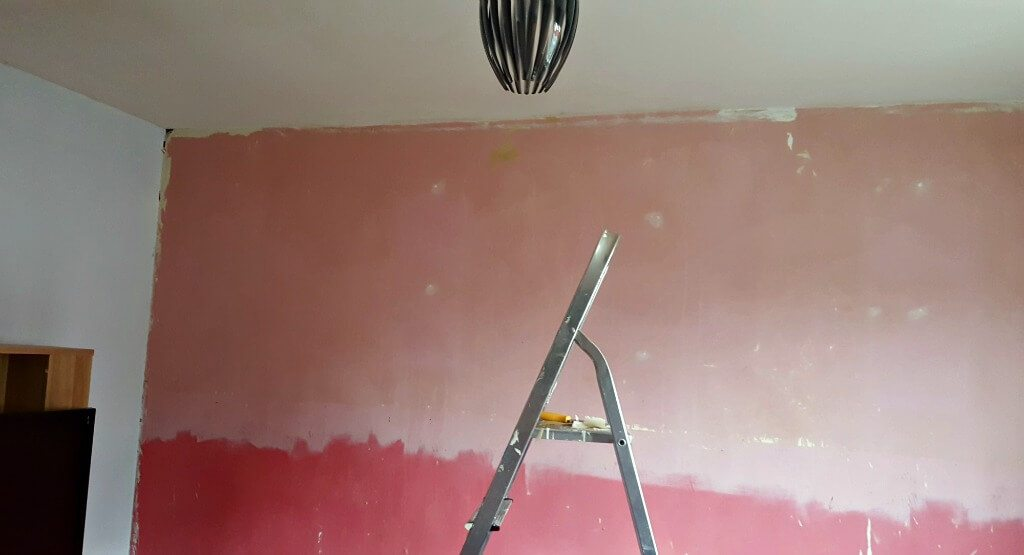 new year new look picture of a pink painted wall
