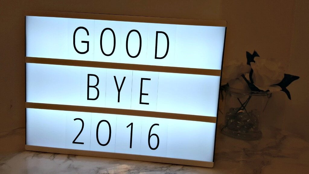 2016: The good, the bad and the ugly. A cinema box light saying goodbye 2016