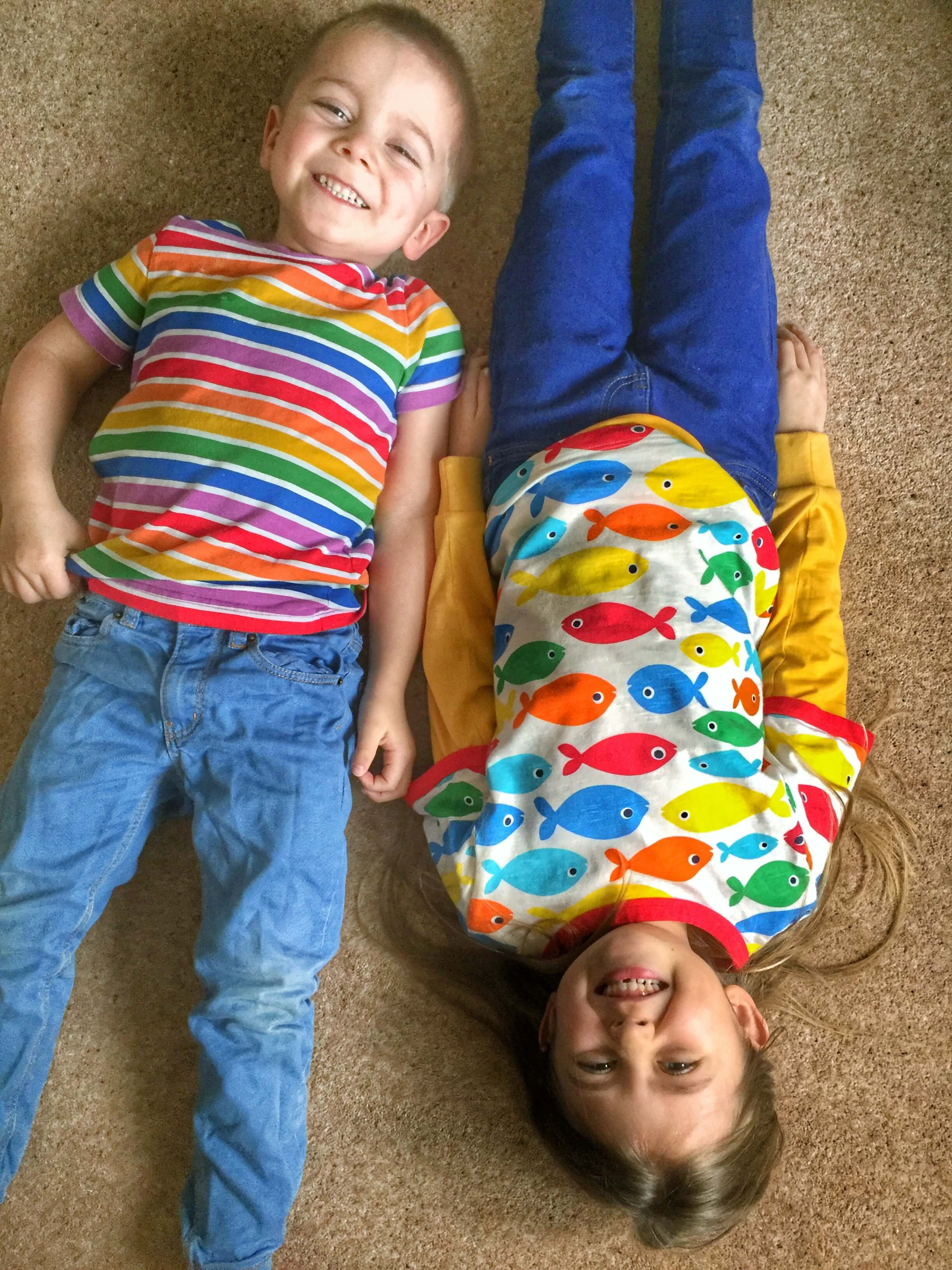 holly and jack's style boy and girl in bright tops ad jeans