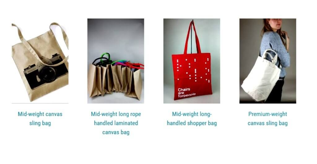 aunties day bags ideas screenshot of canvas bags