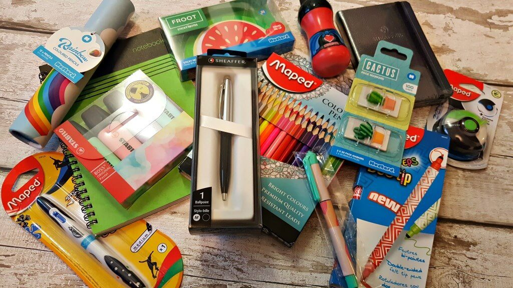 national statonery week bundle of stationery items including pens and pads
