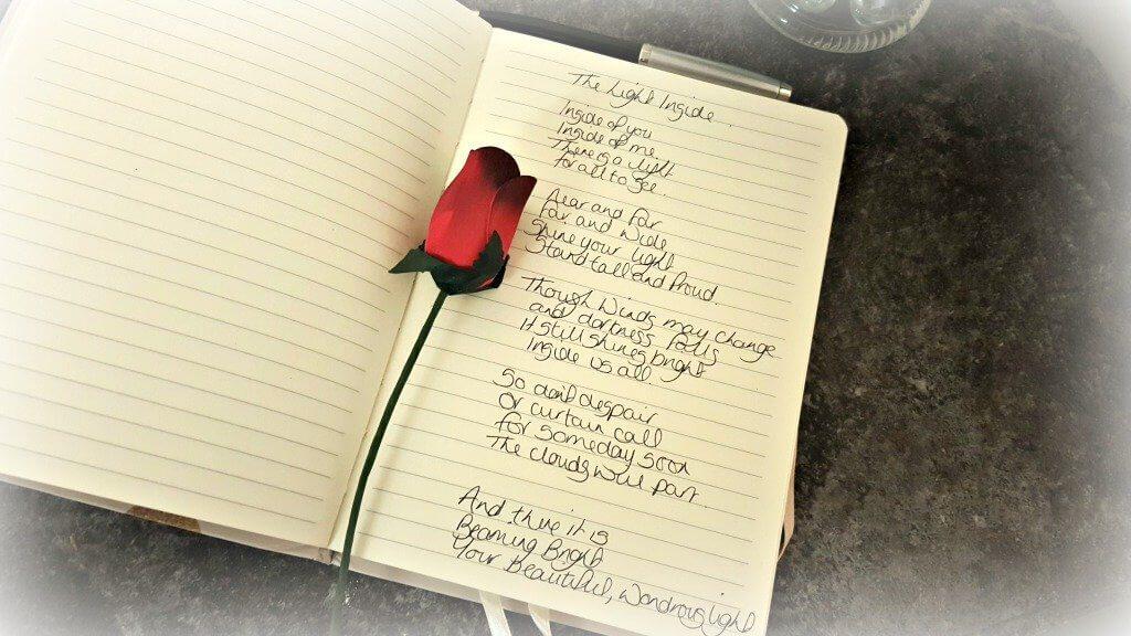 national stationery week handwritten poem in notepad