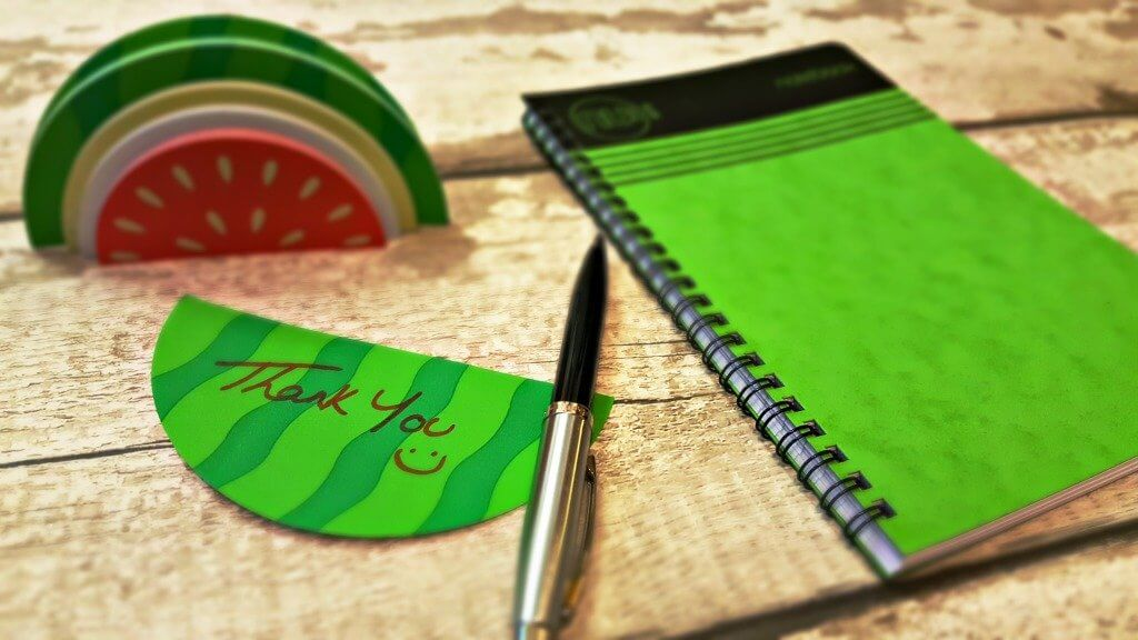 national stationery week sticky note watermelon paper and pen and notepad