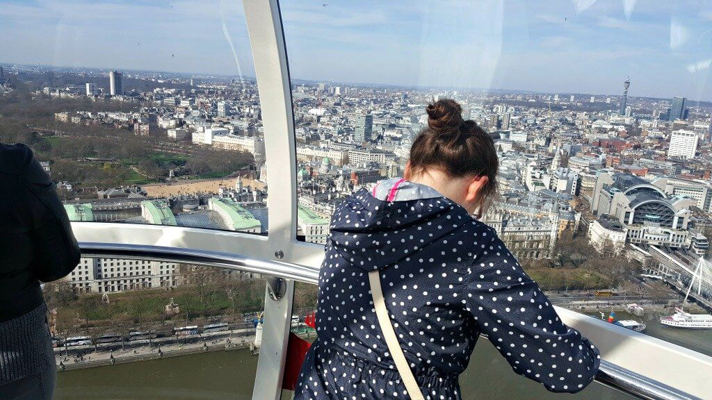 london eye review girl looking out of the capsule