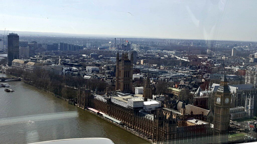 london eye review view of house of parliament