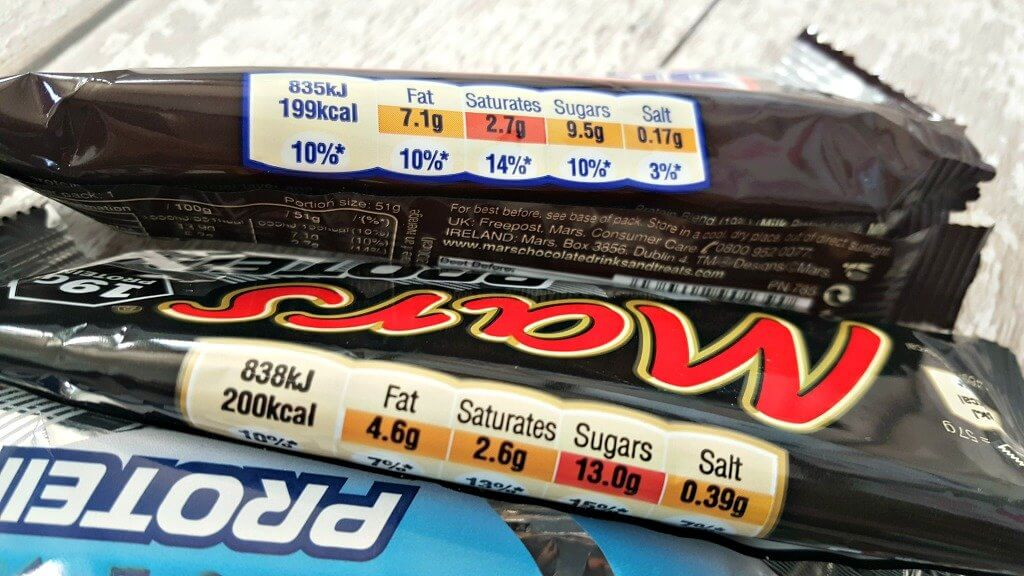 mars, snickers and bounty protein bars nutritional value