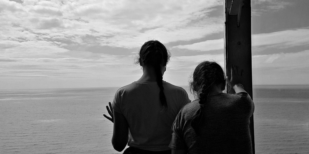 girls-looking-out-over-a-view-in-blackpool