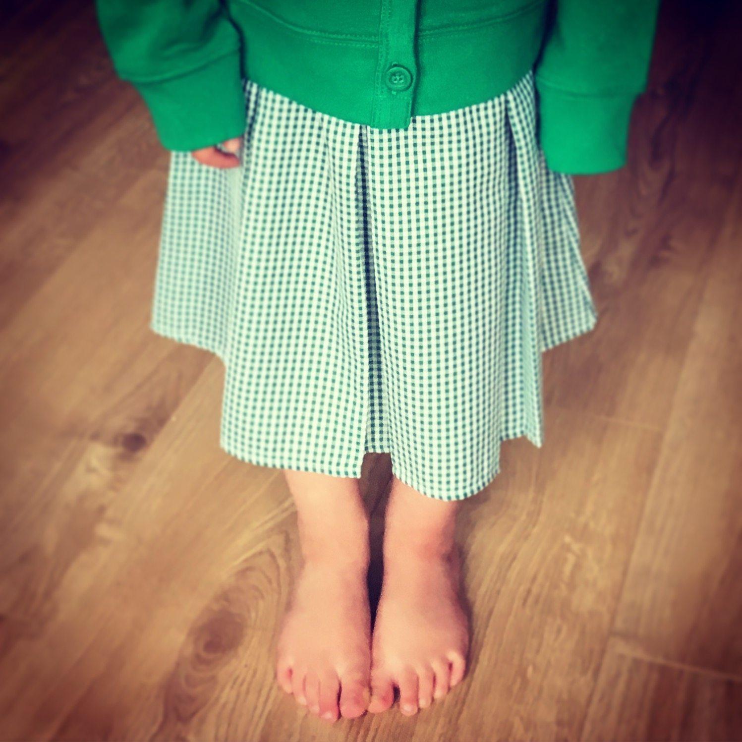 gurest post the parent poet picture of girl in school gingham dress