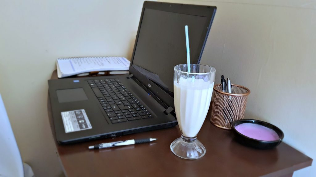lighterlife fast diet shake on a desk