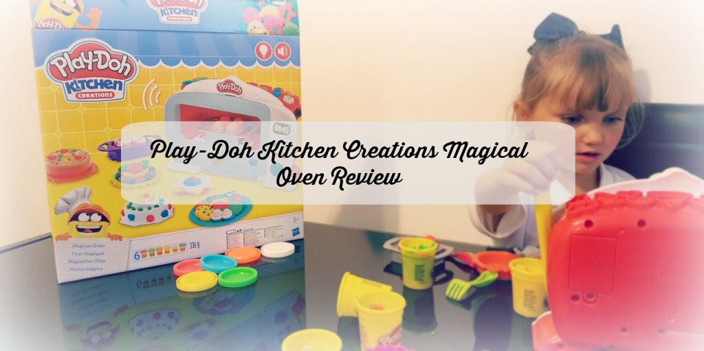 play- doh magical oven - girl with play-doh oven set