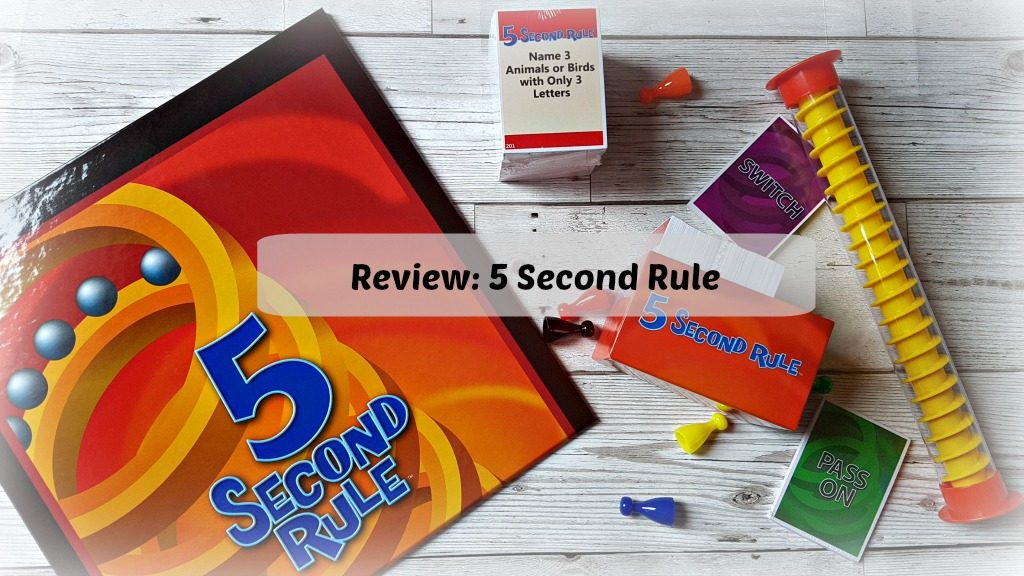 5 second rule review - game box and pieces