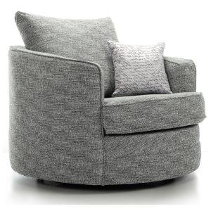 grey swivel love chair