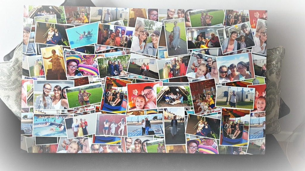 collage family photo canvas frame for gift guide