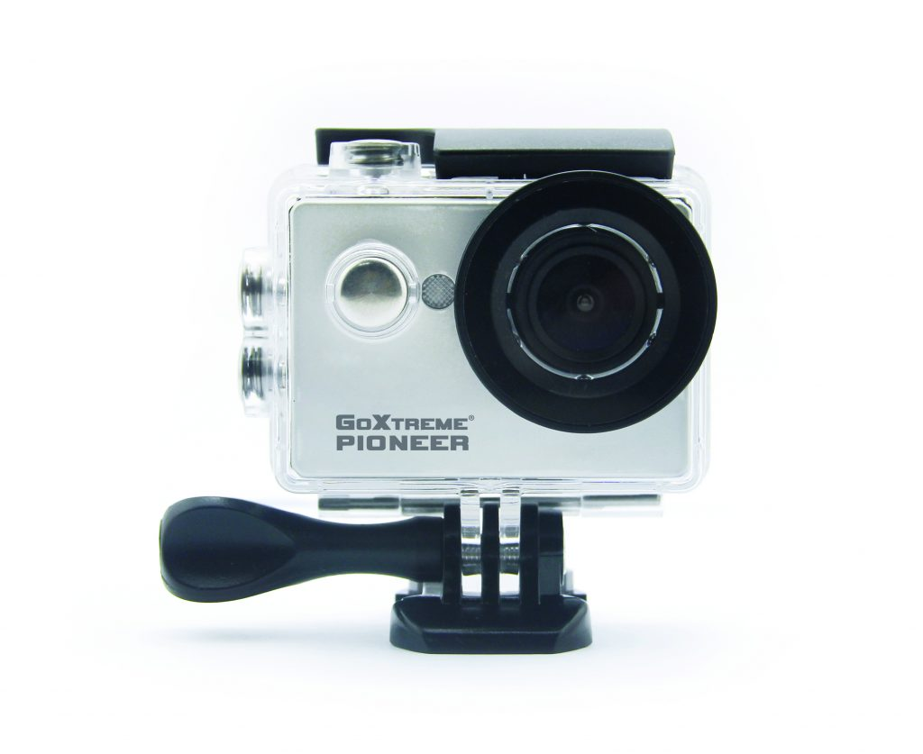 goextreme pioneer action cam front of the camera