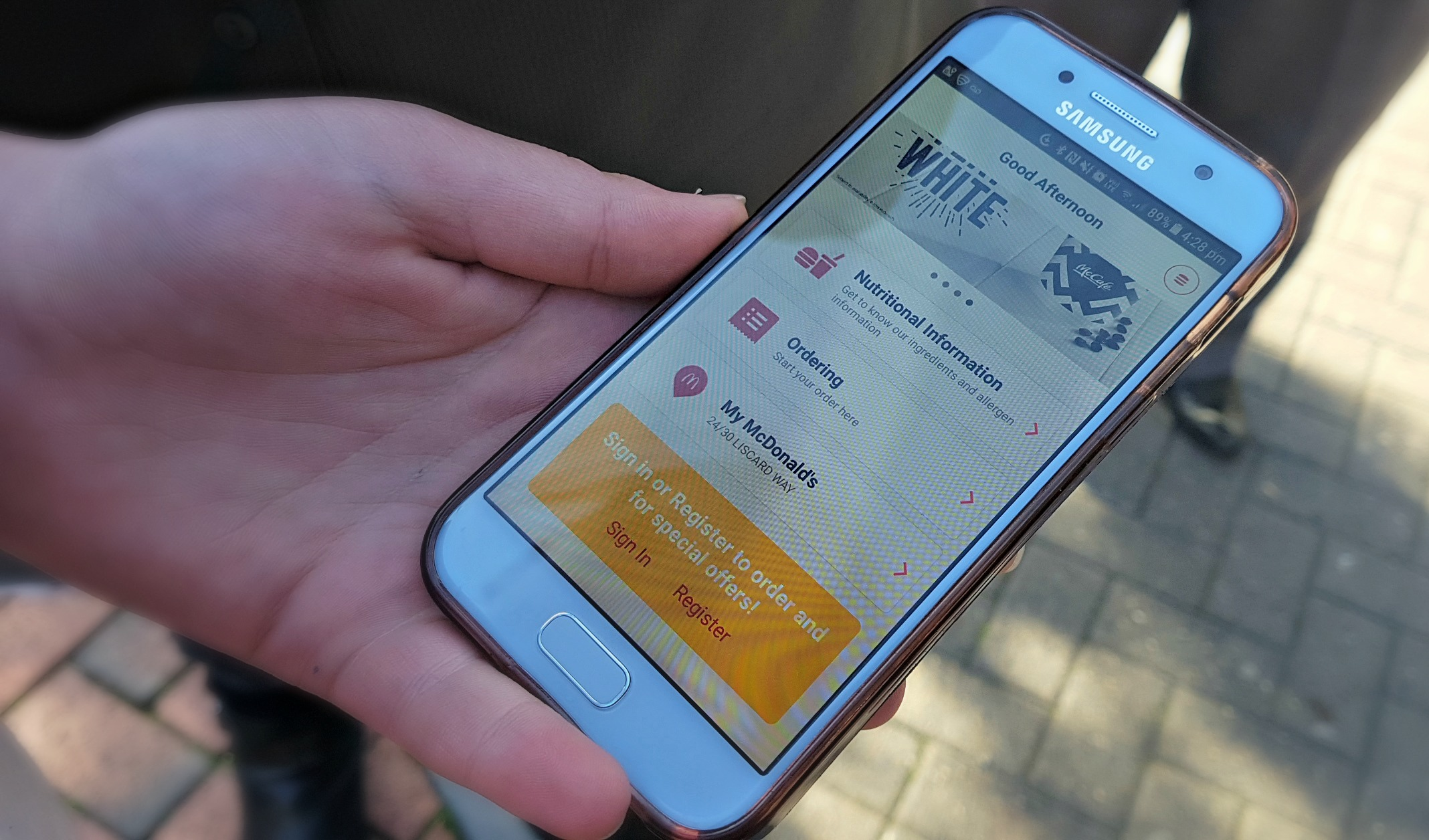 using the mcdonald's click and collect app ordering screen