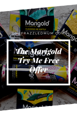 marigold try me free offer flatlay image of products with text overlay for pinterest