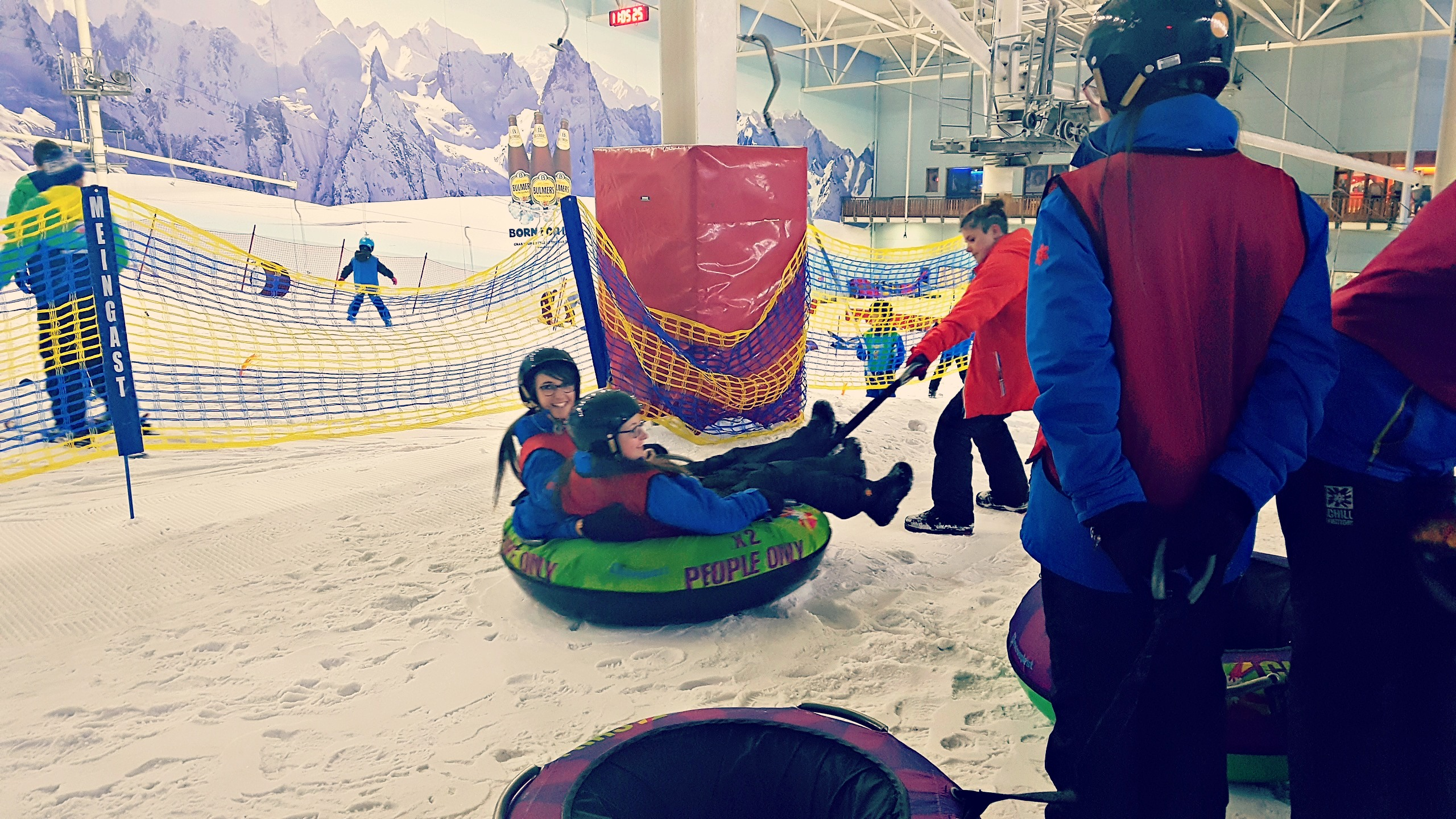 image of people in a 2 man donut in chill factore in manchester
